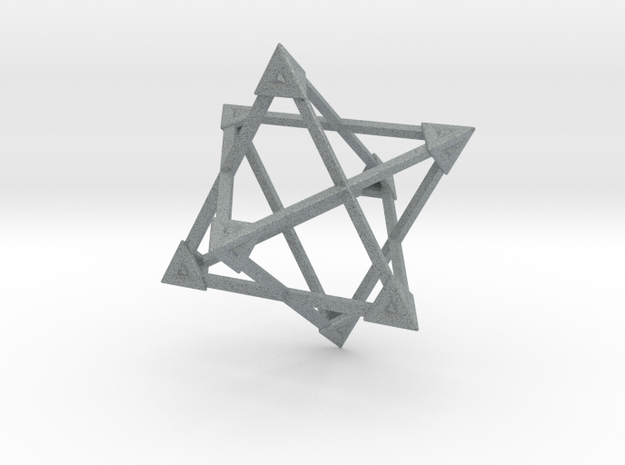 Merkaba Wire Pyramids Only 1 Caps 5cm 3d printed