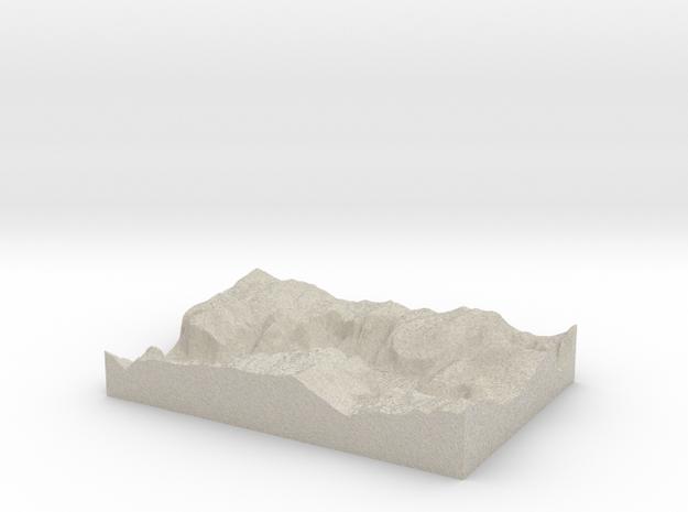 Model of Moran Point in Natural Sandstone