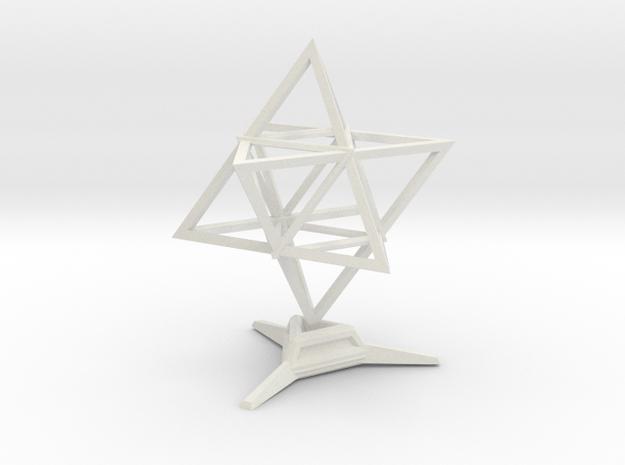 Merkaba Wire 1 W Base 5cm in White Natural Versatile Plastic
