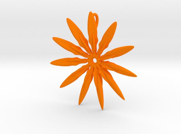 Paddles 11 Points - 4cm, with loopet in Orange Processed Versatile Plastic
