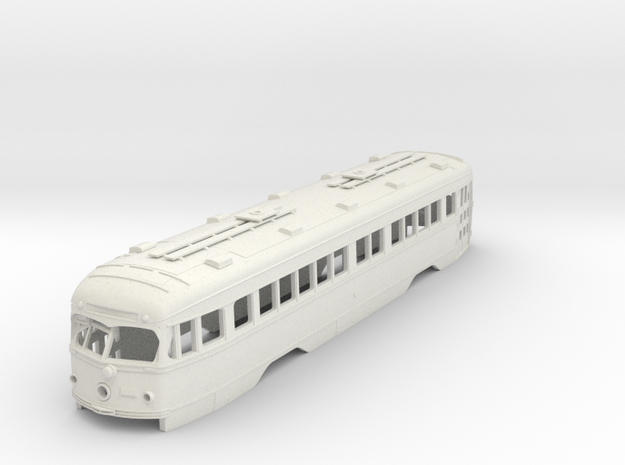 O Scale 1:48 Double End PCC Illinois Terminal BODY in White Natural Versatile Plastic