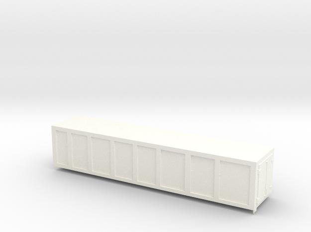 Container réfrigéré 1/220 Z scale in White Processed Versatile Plastic