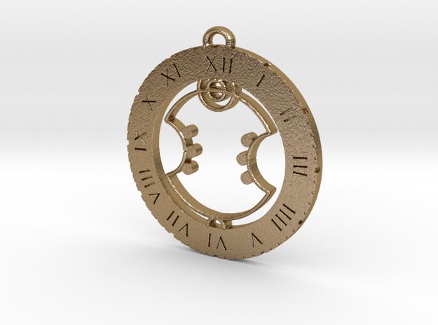 Arthur - Pendant in Polished Gold Steel