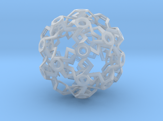 HiTech Sphere - Impossible Structure in Smooth Fine Detail Plastic