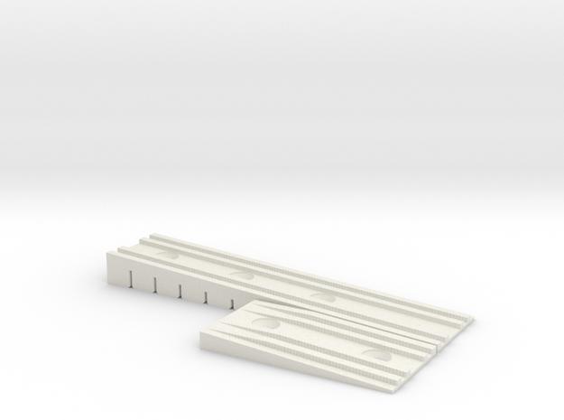 Bretts Wedge Rev 1 in White Natural Versatile Plastic