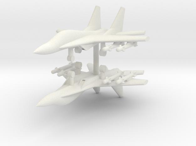 1/285 Mig-29M Fulcrum-E (x2) in White Natural Versatile Plastic