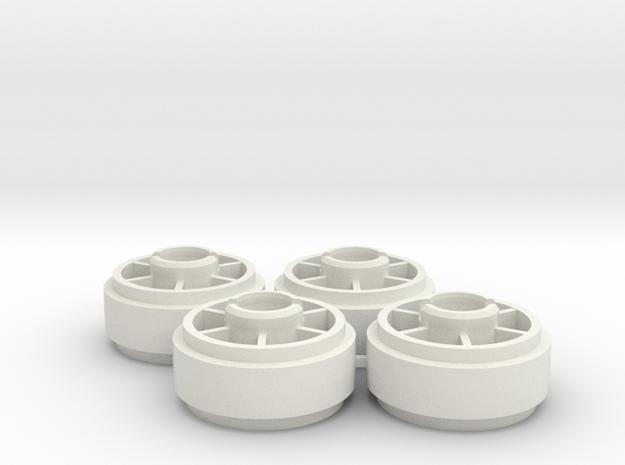 Mini-z NSR5229 19mm +2 Wheelset in White Natural Versatile Plastic