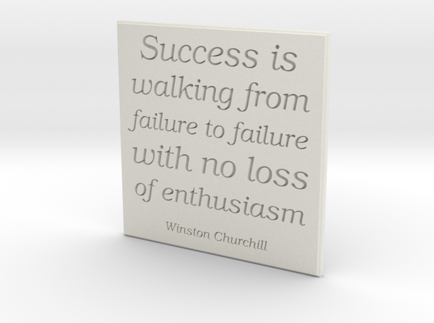 Success Is in White Natural Versatile Plastic