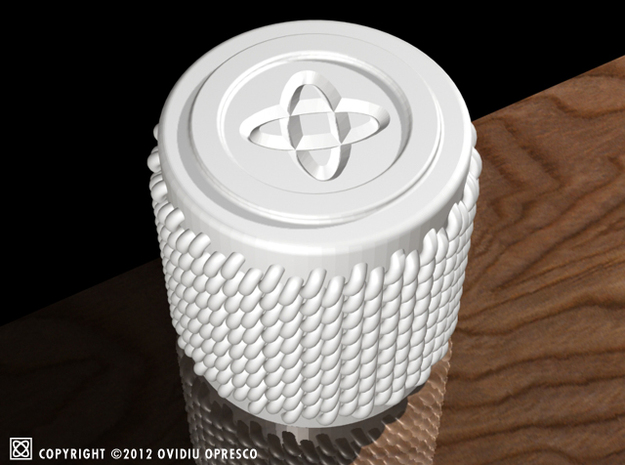 """Knitted Ceramics """"Shot Glass"""" 3d printed"""