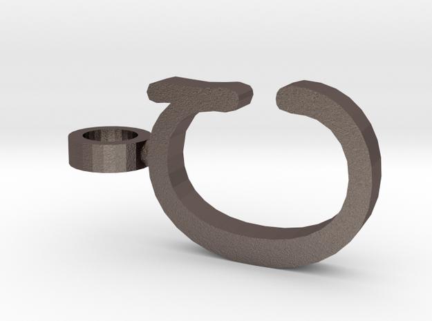 C Letter Pendant in Stainless Steel