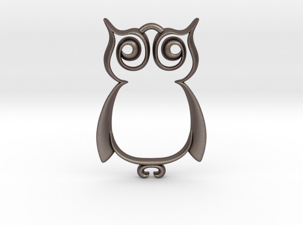 The Owl Pendant 3d printed