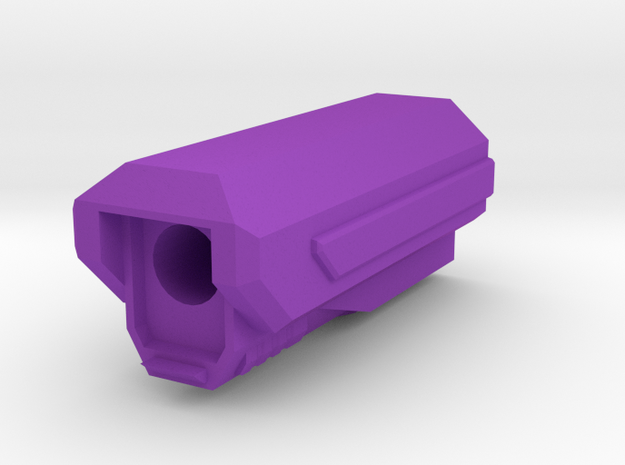 Pistol SciFi Airsoft Muzzle Compensator (14mm Self in Purple Processed Versatile Plastic