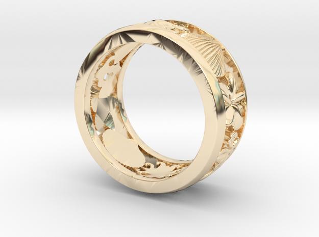 Crest Ring V11 in 14K Gold