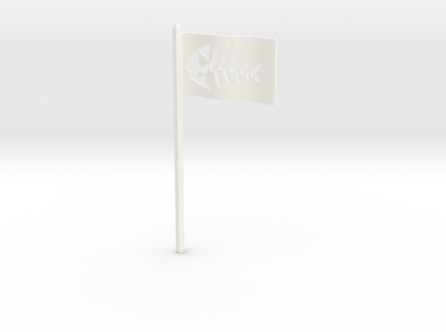 Fish Flag for Starch-Bishop's Palace in White Strong & Flexible Polished