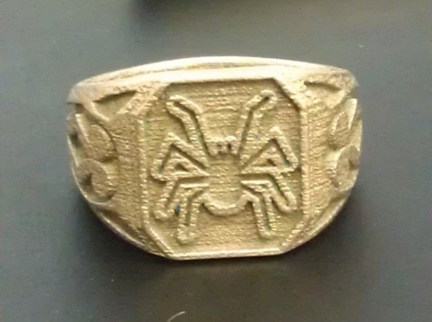 Spider Ring Size 11 in Stainless Steel
