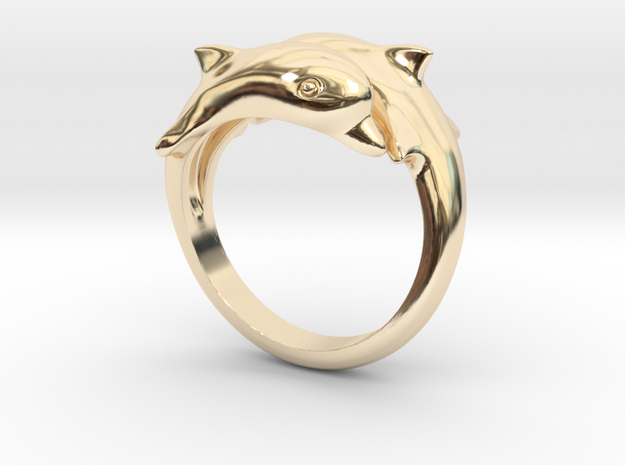 Dolphin Ring Size US 7