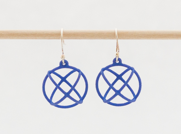 Orbit Earrings in Blue Strong & Flexible Polished