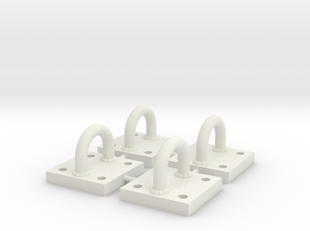 1/6 Scale Bracket 003 in White Natural Versatile Plastic
