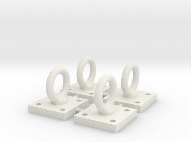 1:6 Scale Loop Bracket 004 in White Natural Versatile Plastic