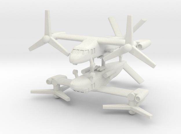 1/350 Bell V-280 Valor (Attack Mode) (x2) in White Natural Versatile Plastic
