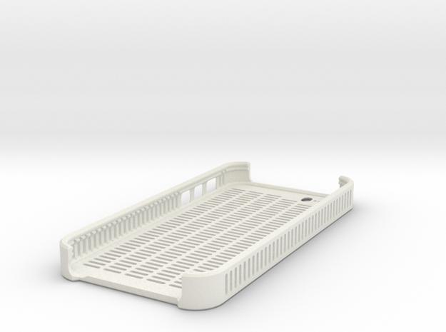 Lines Case (5/5S) in White Natural Versatile Plastic