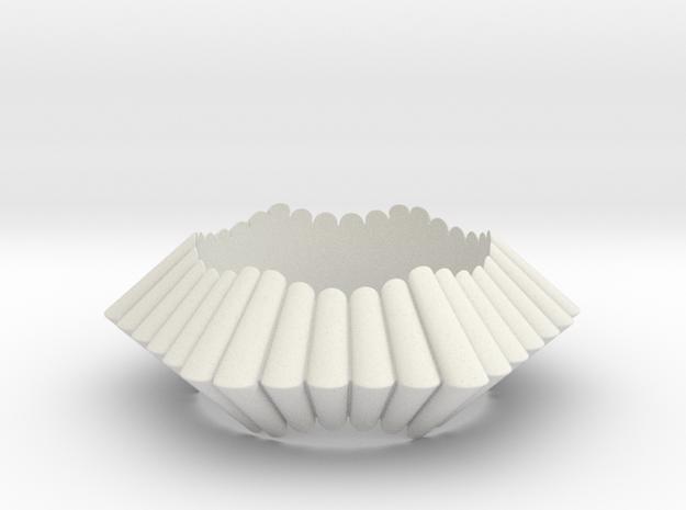 Chantilly-hexagon in White Natural Versatile Plastic