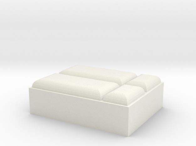 Bett HO 1:87 in White Natural Versatile Plastic