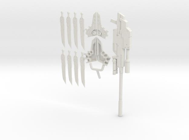 MAG Elnoa w Rifle for 1/12 Elenor Model Kit in White Natural Versatile Plastic