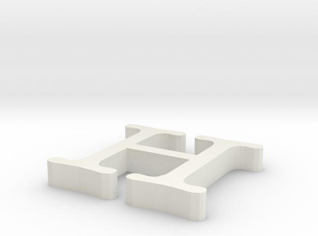 H Letter in White Natural Versatile Plastic
