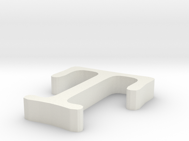 T Letter in White Natural Versatile Plastic