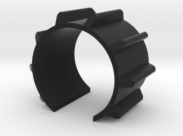 Emitter Fins component 32mm long - MHS Compatible in Black Strong & Flexible