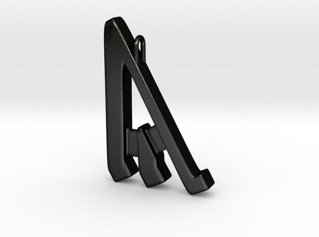 Rune Pendant - Ȳr in Matte Black Steel