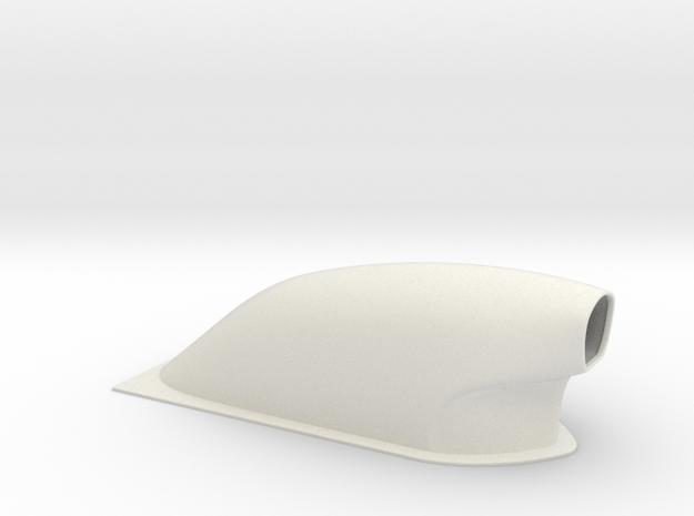 1/8 Scale Pro Mod Hood Scoop in White Natural Versatile Plastic