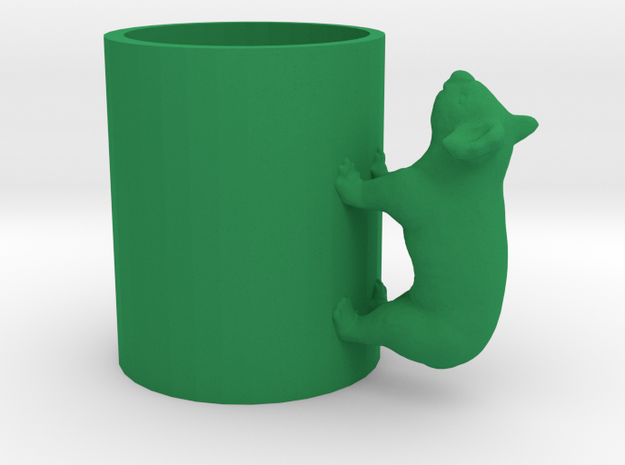 Koala Cup-porcelain Shapeways Test in Green Processed Versatile Plastic