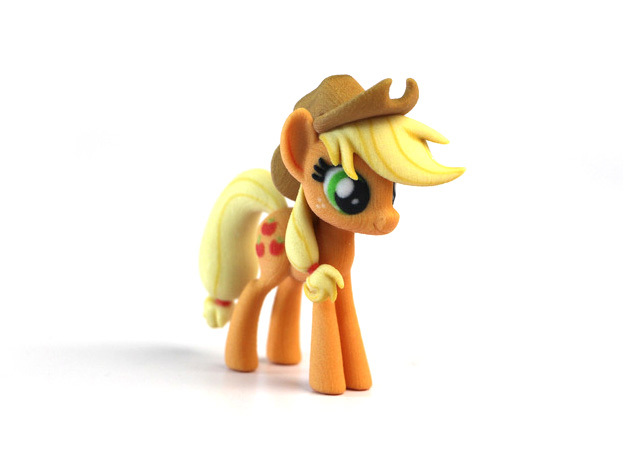 My Little Pony - Applejack (≈75mm tall) in Full Color Sandstone