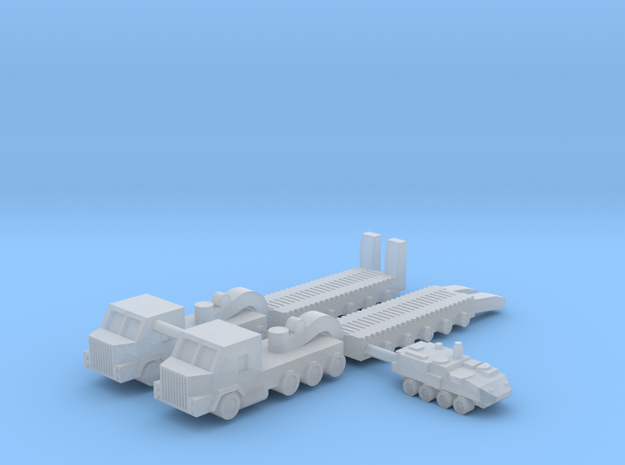 1/600 M1070 HETS Tank Transport (x2) in Smooth Fine Detail Plastic
