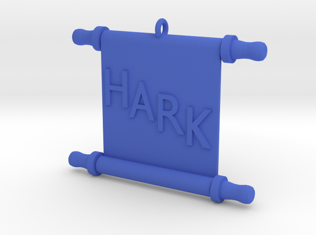 Ornament, Scroll, Hark in Blue Processed Versatile Plastic