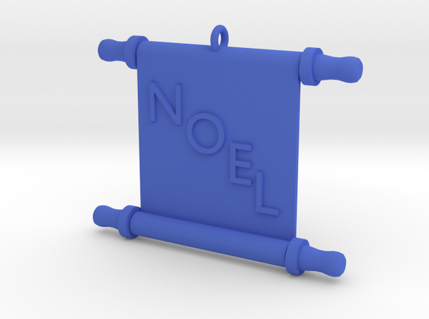 Ornament, Scroll, Noel in Blue Strong & Flexible Polished