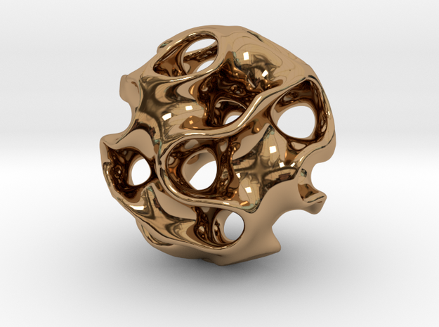 GYRON Sphere - 60mm in Polished Brass