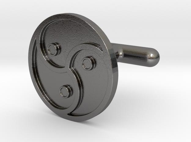 BDSM Cufflinks in Polished Nickel Steel