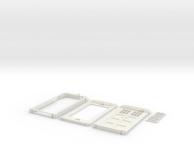 TARDIS Phone Case in White Natural Versatile Plastic