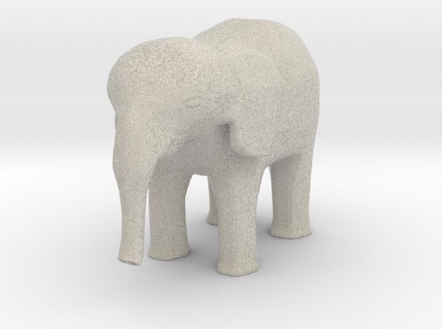 Elephant-shapeways-test-14 in Natural Sandstone