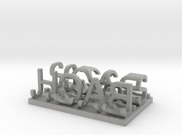 J.S. BACH 3d printed