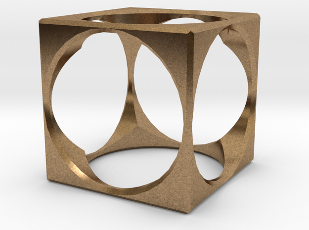 Ring15(18mm) in Natural Brass