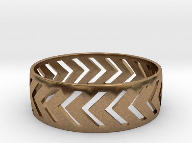 Ring9 in Natural Brass