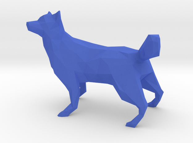 Low Poly Husky [4cm Tall] [Fully Solid]