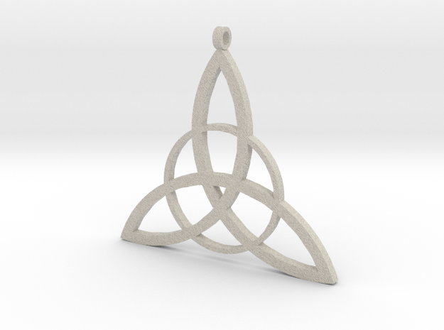 Triquetra Pendant in Natural Sandstone