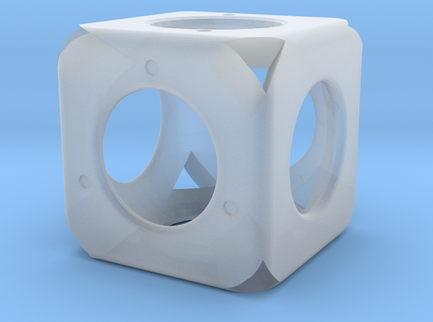 Dice45 in Smooth Fine Detail Plastic