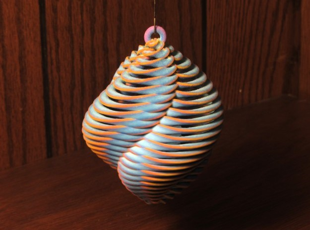 Mathematical Mollusca - Spiraling Blue in Full Color Sandstone