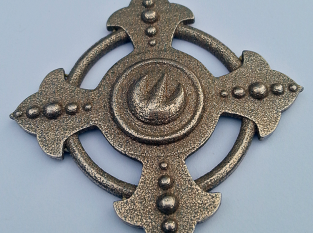 Fire Medallion Pendant 3d printed